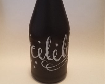 Chalkboard Champagne Bottle **Celebrate**