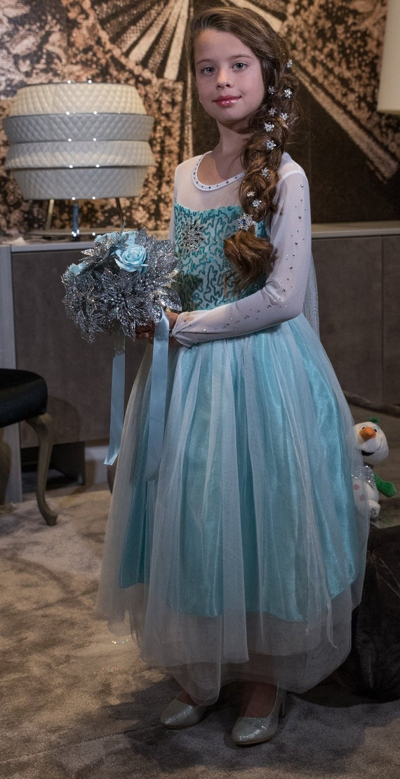 Elsa Dress Frozen Dress Princess Dress Snow Princess   Etsy