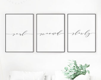 Lets Stay in Bed Printable Bedroom Quote Print Lets Stay in ...
