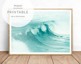 Ocean Print - Baydreem. Ocean Wall Art Ocean Print Ocean Poster Ocean Wave Art Ocean Wave Print Ocean Home Decor Ocean Wave Photo Ocean Art