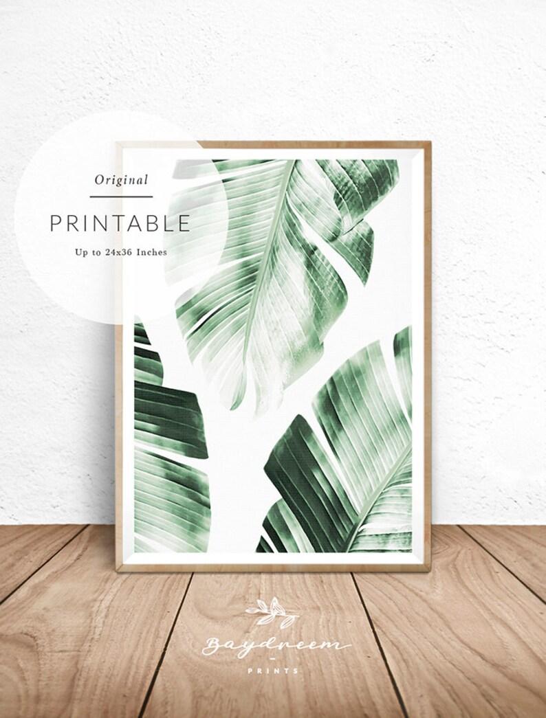 Banana Leaf Print Tropical Wall Art Banana Leaves Print image 0