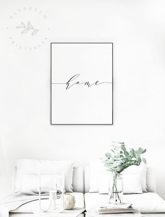 Home Word Printable, Living Room Wall Art, Home Word Print, Living Room  Printable, Home Word Art, Living Room Prints, Home Digital Download