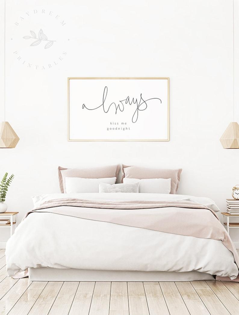 Always Kiss Me Goodnight Printable Master Bedroom Printable Etsy