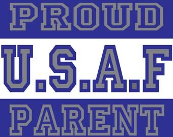 proud air force parent car decal
