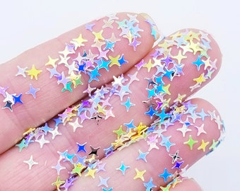 5g Pastel pink 5PT STARS CONFETTI glitter embellishment confetti shaker supplies mix *Not Edible*