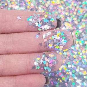 5g WHITE CLOUD CONFETTI embellishment confetti shaker supplies mix *Not Edible*