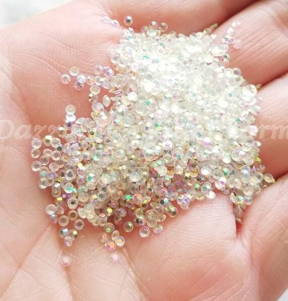 2mm Clear Rhinestone Jelly Ab Flatback Cabochon Decoden Supply Etsy