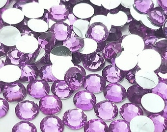 3mm light purple rhinestone flatback crystal beads faceted lavender 3D phone case decoden jewelry embellishment scrapbooking supply *300pcs*