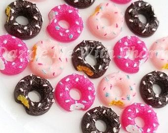 Fake doughnut pastries flatback 17mm cabochon decoden mix *4pcs*