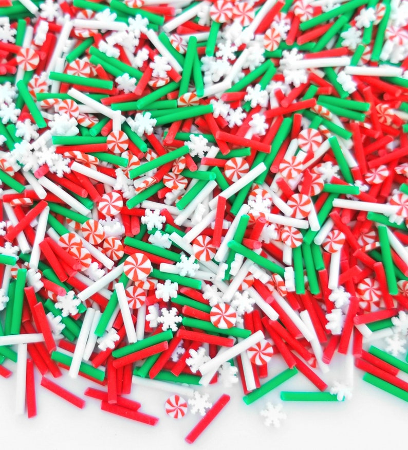 100grams HOLIDAY funfetti polymer clay candy sprinkles NOT EDIBLE