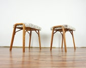 Bentwood stools by Ludvik Volak for Holesov , 1970s