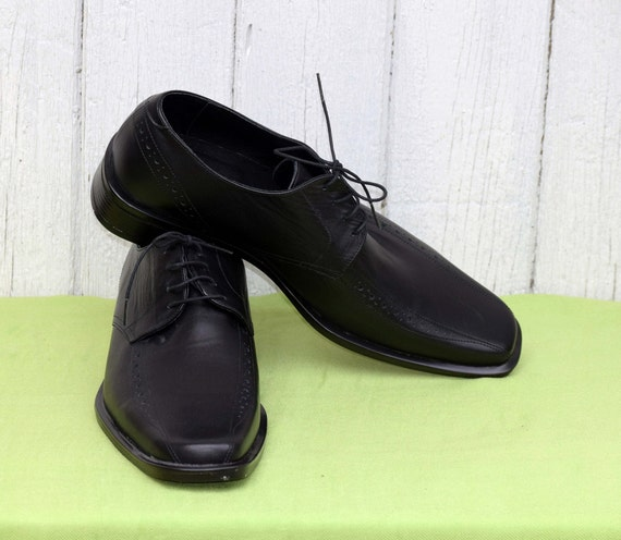 Elegant men's shoes, Vintage leather shoes, Black… - image 7