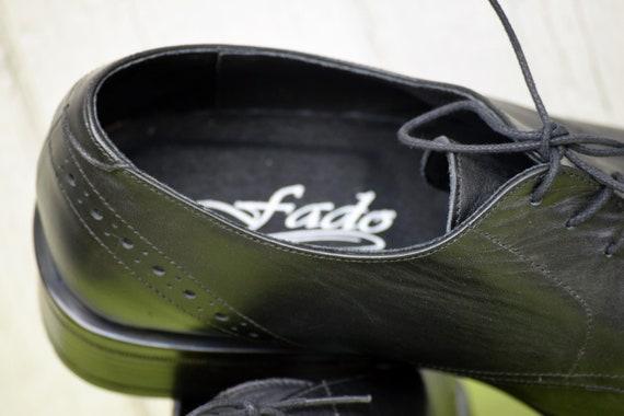 Elegant men's shoes, Vintage leather shoes, Black… - image 8