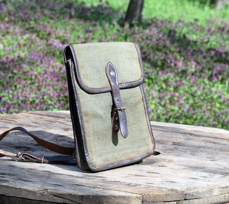 3e72076d62c8d Vintage Army Canvas torba militarna torba na ramię wojskowa   Etsy