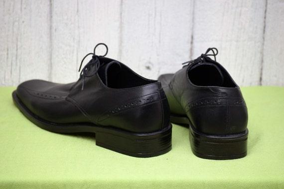 Elegant men's shoes, Vintage leather shoes, Black… - image 6