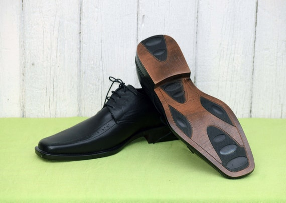 Elegant men's shoes, Vintage leather shoes, Black… - image 4