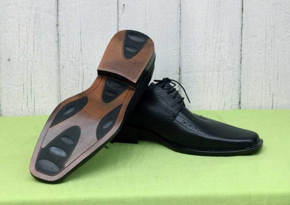 Elegant men's shoes, Vintage leather shoes, Black… - image 5