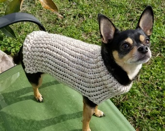 aa572da7241 Dog sweater, cute dog or cat sweater, hand knitted, chihuahua, yorkie, puppy,  small dog, warm pet sweater, cold wear for dogs
