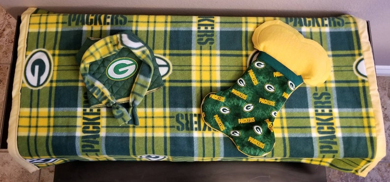 newest 35dae 769f1 Green Bay Packers Dog Gift Set,Jacket-Blanket-Xmas Stocking,Holiday  Dog,Trendy Cute Pet Accessories,Chihuahua,Yorkie,Christmas Dog Gift Set,
