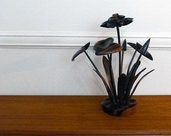 Vintage Rosewood Flower Centrepiece