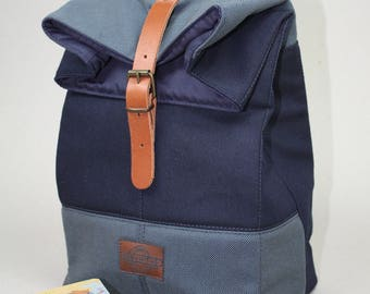 Lunch Bag canvas-denim/Lunch bag canvas/sac á lunch