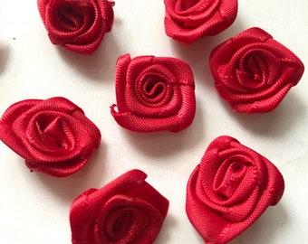 Red Ribbon Rose Etsy