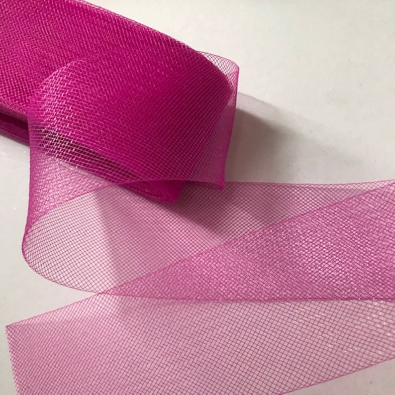 Hot Pink 1 Inch Polyester Horsehair Braid Selling Per Roll//22yards 14 Different Colors