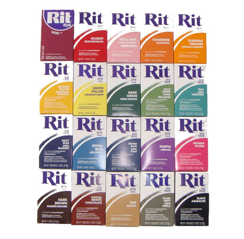 Rit Dye Powder all purpose fabric color tinte laundry clothing image 0
