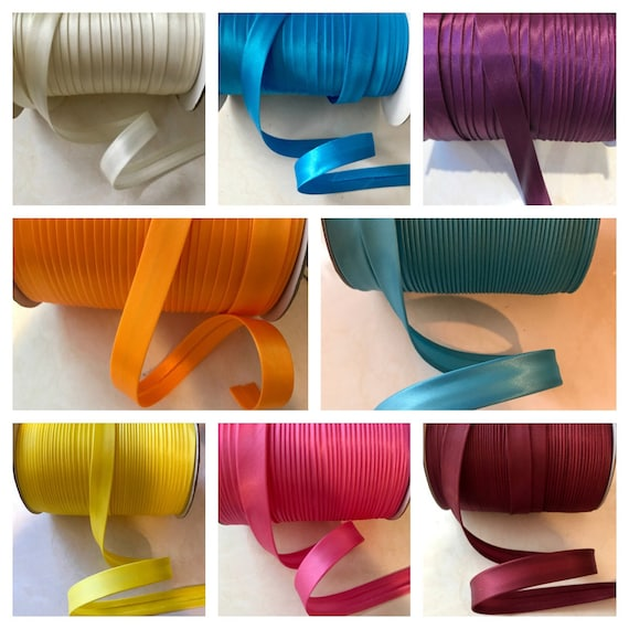 Royal Blue 12 Yards 5//8 inch Single Fold Satin Bias Tape 23 Different Colors