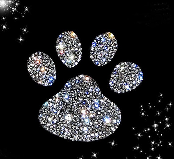 White 19CC1121 Fused Glass Decals Paw Prints 1-1//2