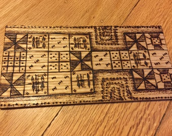 Royal Game of Ur with Red Oak Board