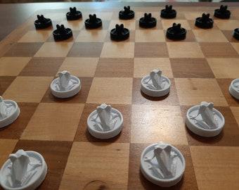 Frog Checkers | Frog Tafl | 3D Printed