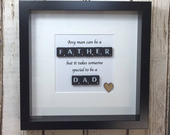 Dad Present Birthday Gift For Step Father Fathers Day Picture 1Dad Daddy Scrabble Art Quote