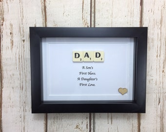 Handmade Birthday Picture For Dad Daddy Gift Present Fathers Day 1Dad Scrabble