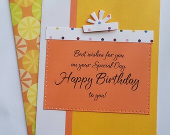 handmade birthday greeting card birthday card handmade birthday card unique birthday card blank greeting card happy birthday card - Unique Birthday Cards
