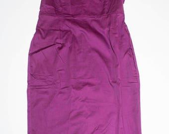 Dress Vintage Sleeveless Purple color