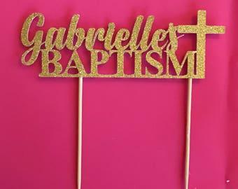 Baptism cake topper | christening cake topper | glitter cake topper