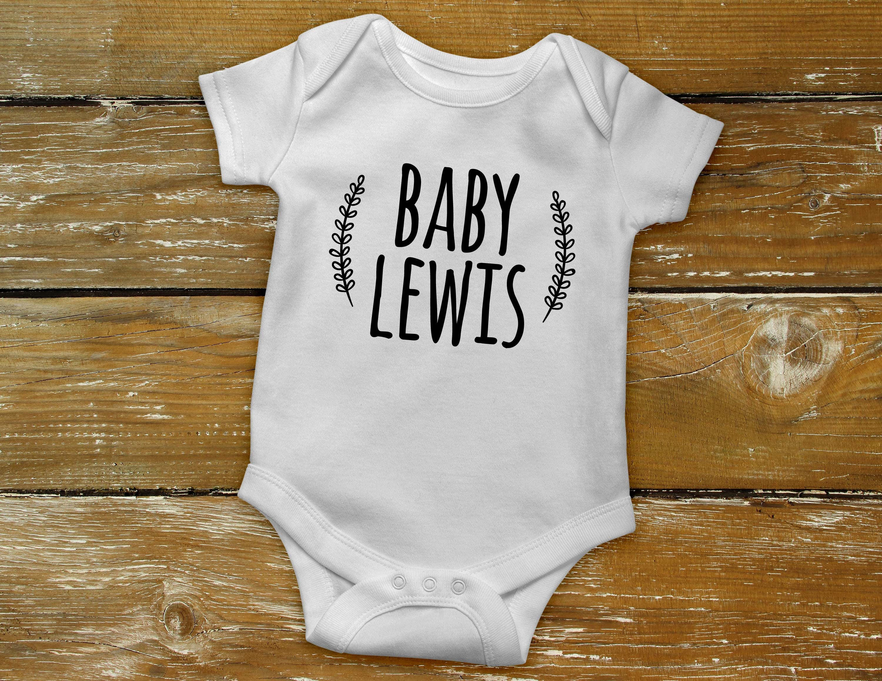 Surname /& Date Reveal Romper Personalised Pregnancy Announcement Baby Bodysuit