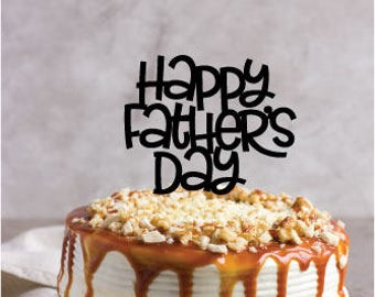 Father's Day Cake Topper - Happy Father's Day