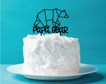 Father's Day Cake Topper - Papa Bear