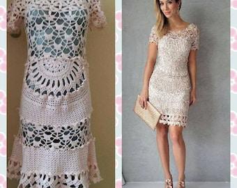 Ladies dress crocheted