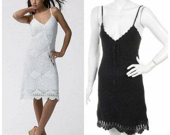 Ladies summer dress crocheted
