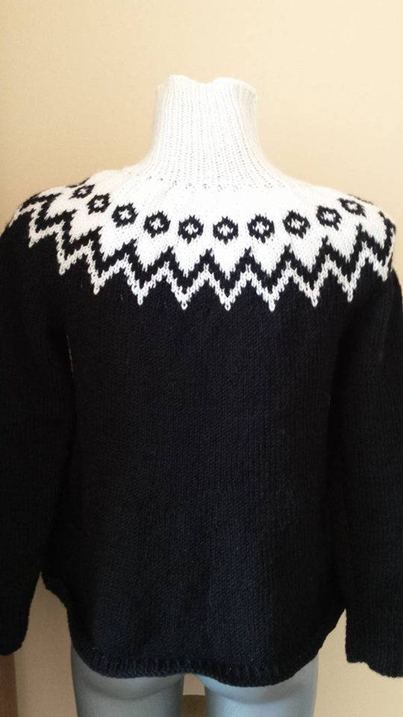 Gift for her.Black sweater.Ladies sweater.Women sweater.knitted sweater.knitted sweater handmade.
