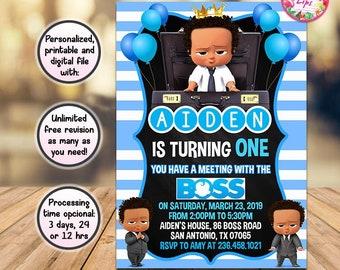 Boss Baby Invite Etsy