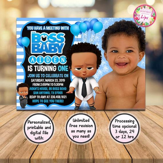 Boss Baby Invitation