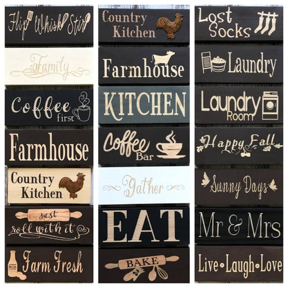 Kitchen Decor Kitchen Signs Wood Signs Small Signs Coffee Sign Etsy