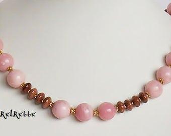 Beaded Necklace Pink gem jewelry pink jewel necklace pink ornamental ornamental pink pearls shiny Stylish