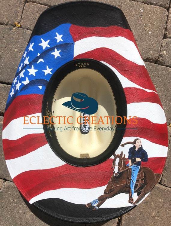5cbe8d46c38 Custom Hand Painted Cowgirl Hats or Hand Painted Cowboy Hats