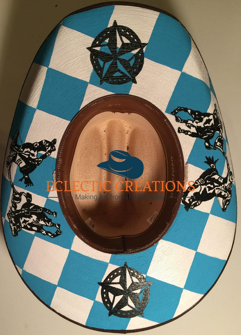 23c9ba17 Custom Hand Painted Cowgirl Hats or Hand Painted Cowboy Hats (Made to Order)