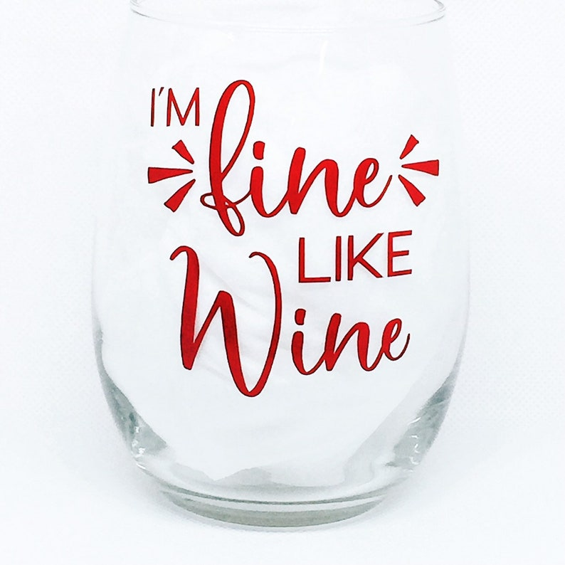 Wine Gifts Stemless Wine Glass Funny Wine Glass Quotes Etsy